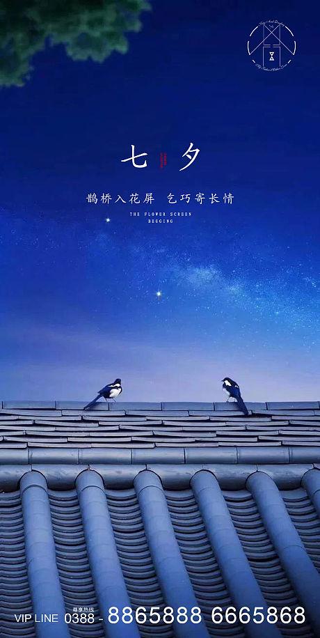七夕情人节海报-源文件
