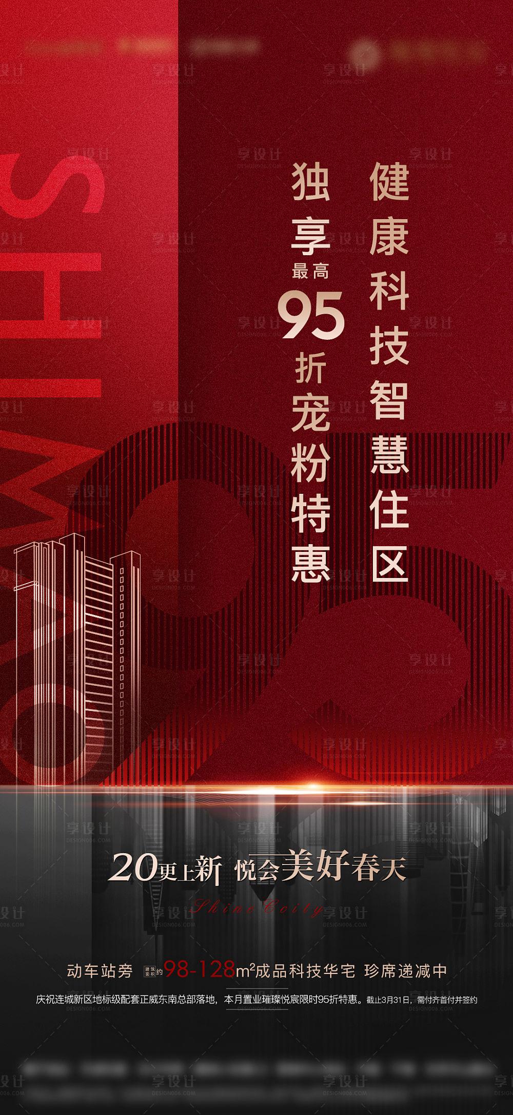 【源文件下载】 海报 房地产 加推 红金 大气设计作品 设计图集
