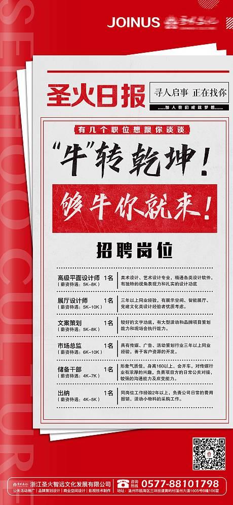 牛年招聘海报-源文件