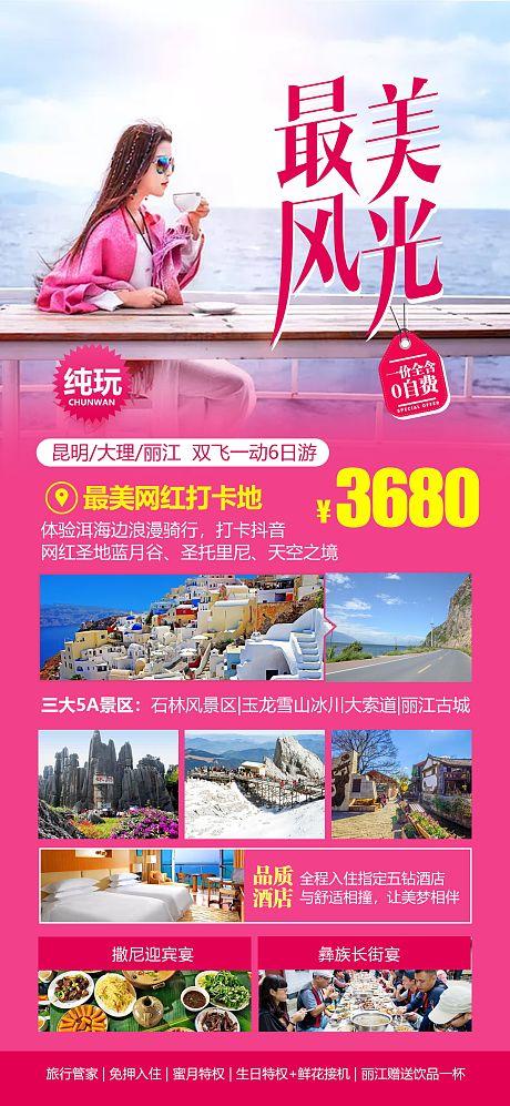 云南旅游海报-源文件
