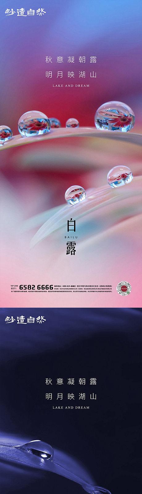 白露节气系列海报-源文件